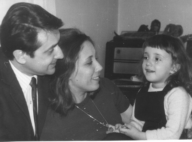 dad, mom and little me